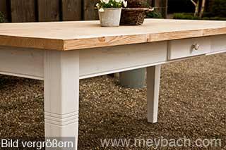tisch esstisch esszimmer massivholz landhaus shabby 220 cm weiss natur ebay. Black Bedroom Furniture Sets. Home Design Ideas